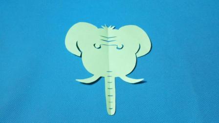 剪纸小课堂: 大象, 儿童喜欢的手工DIY, 动手又动脑