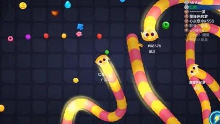 蛇蛇争霸: 这条欢快的小黄蛇经历变大又变小, 最后结果是第2名