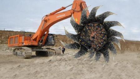 像怪物一样的挖掘机, 在危险的条件下都能轻松应对!