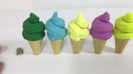 月采培乐多彩泥奇趣蛋惊喜蛋 培乐多彩虹惊喜冰淇淋 玩具拆拆乐 小猪佩奇维尼熊
