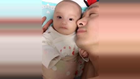 爸爸喝了酒睡在宝宝旁边, 接下来宝宝的反应我看了3遍, 笑疯了!