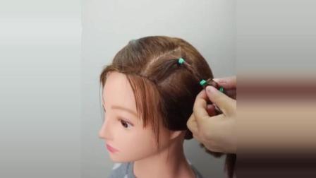 短发儿童的半扎发, 可爱小公主就是这么简单!