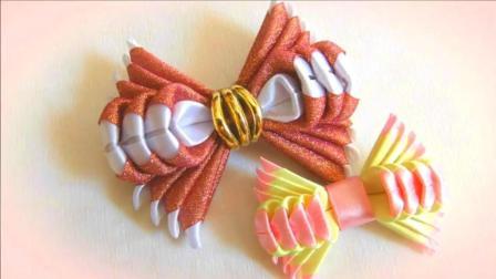 """手工DIY, 用丝带制作""""蝴蝶发夹""""的方法和技巧"""
