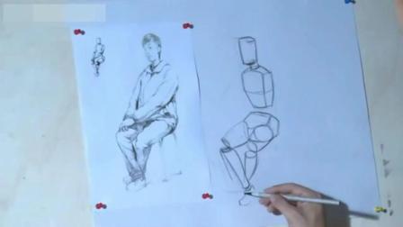 简单人物素描入门 初学素描 风景速写基础知识