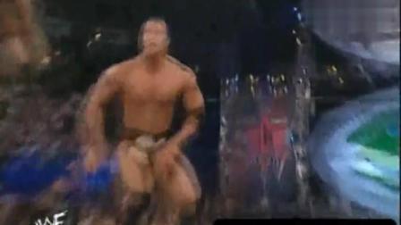 跨阵营对决! 巨石强森代表WWF挑战WCW冠军布克T当年摔角就是好看