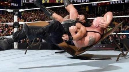 WWE无规则极端比赛, 大秀哥被几百斤桌子砸晕, 吓到脸色发白