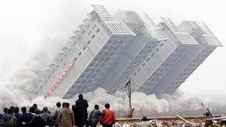 建筑物拆除失误合集, 千万不要随便去看热闹, 飞沙走石太危险了
