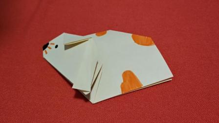 儿童折纸视频教程, 手工折纸如何折仓鼠教程, 美兰儿童折纸大全