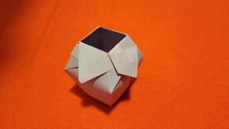 儿童折纸视频教程, 手工折纸如何折花瓶教程, 美兰儿童折纸大全