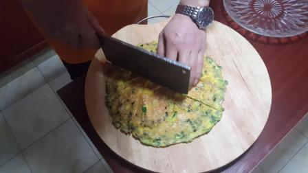 二哥教你做韭菜蛋饼, 简单易学, 美味又健康