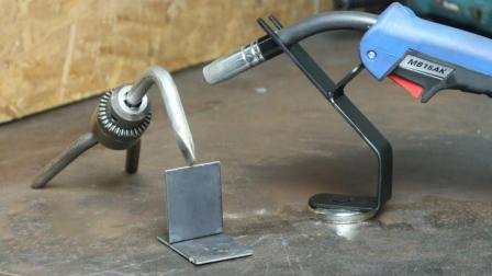 老外自制焊接工具号称焊工的第三只手, 展示后拿到工地准被抢光!