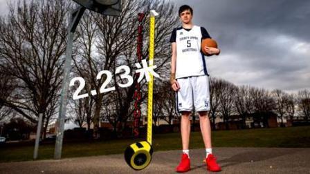 很快就能站着扣篮, 16岁孩子身高2.23米