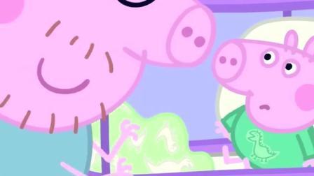 小猪佩奇: 猪爸爸讲个小故事, 都把乔治吓哭了