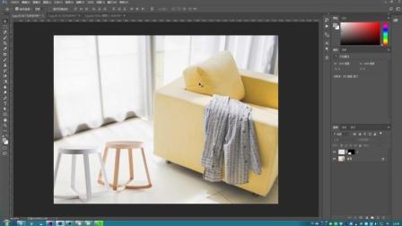 不用抠图, 快速将两张图片合并成一张图片, 使用自动混合命令溶图