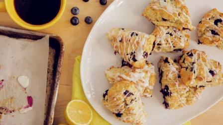 柠檬蓝莓甜点饼制作
