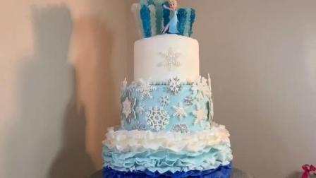 真实还原《冰雪奇缘》蛋糕, 这是我见过最美的一款, 没有之一!