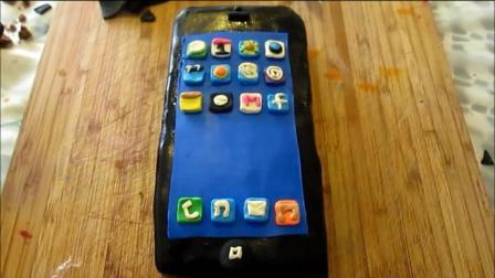 一款会令喜欢iphone苹果的小伙伴尖叫的蛋糕! 这创意我给一百分!