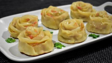 包饺子别只会叠褶皱, 教你一个新包法, 像玫瑰一样, 饭店都吃不到
