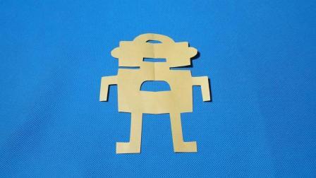 剪纸小课堂: 机器人, 儿童喜欢的手工DIY, 动手又动脑