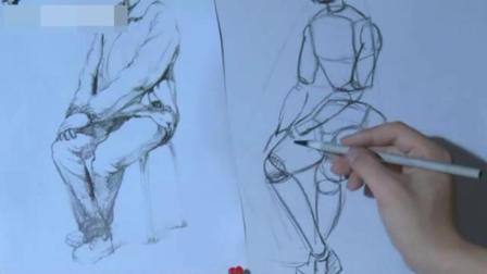 简单铅笔画老人 儿童画画大全简单漂亮 速写入门先画什么