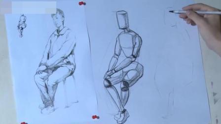 油画直接画法素描入门几何教学视频, 钢笔人物速写教程视频, 香蕉素描教程视频画素描的