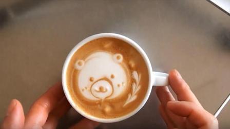 咖啡拉花基础教程: 教你如何在咖啡上雕出一只可爱的大熊