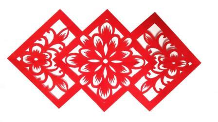 剪纸艺术: 三个菱形图案的剪纸教程, 动脑又动手, 这样的窗花你想学吗?