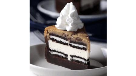 简单4步, 教你一个5层奶酪布朗尼蛋糕的做法, 大小朋友抢着吃!
