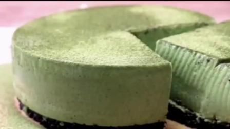 【抹茶慕斯蛋糕做法】一个不用烤箱就能做的蛋糕, 淡淡的抹茶清香的蛋糕, 好吃又不会腻