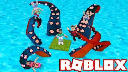 【Roblox诅咒群岛】躲避随机灾害! 恐怖章鱼触手上演海洋奇缘! 小格解说 乐高小游戏