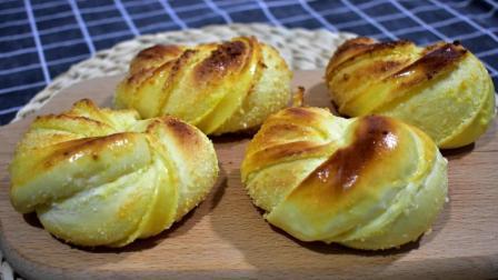 2分钟教你自制椰蓉面包, 健康美味, 做法简单, 大人小孩都喜欢