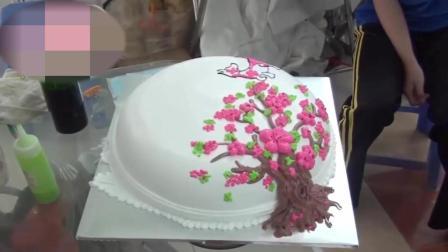 好看的梅花树蛋糕真的舍不得吃一口