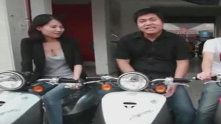兄弟三人陪美女逛二手摩托车市场, 相中新大洲本田, 笑死个人!