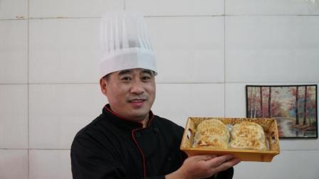 大厨教你做韭菜盒子, 加上这一技巧, 皮薄馅多不出水, 凉了也松软