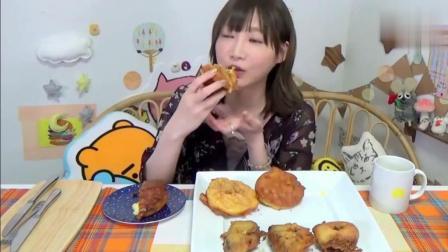 大胃王木下吃高热量奶油泡芙, 这么吃就不信你不会胖!