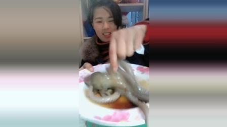 生刺八爪鱼这味道真的好吃嘛, 不过看样子是好吃