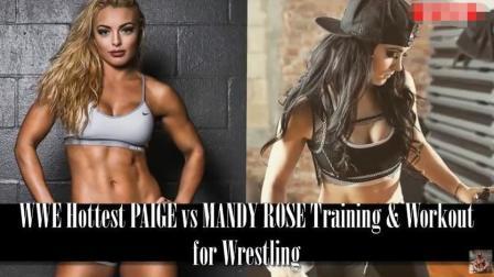 WWE最火的两朵铿锵玫瑰, 看看她们的健身和搏击训练-