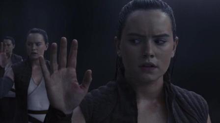 星战8, 蕾伊看到将要觉醒的原力, 自己都惊愕
