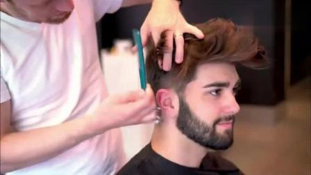 外国小哥头发太塌, 剪了个飞机头发型后变得超帅!