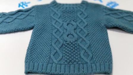 组合花样中性套头毛衣菠萝蜜之身片2后片完成花样
