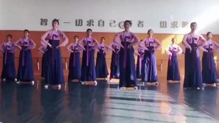朝鲜舞基础训练教程, 屈身组合, 民族舞的基本功练习