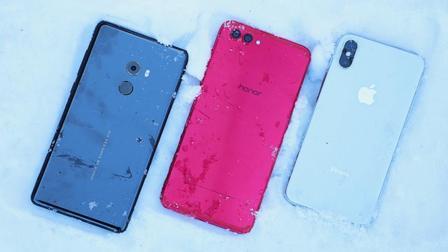 3大旗舰手机雪地表现怎么样? 来次极限铁人比赛吧