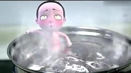 僵小鱼为了救粑粑把自己放进锅子煮了, 看一遍, 哭一遍!