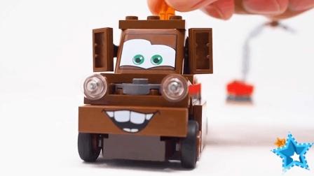 汽车玩具视频: 大卡车工程车笑眯眯 笑脸车组装儿童汽车动画