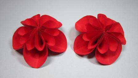 3分钟学会简单又美丽的花朵折纸, 纸花的折法, DIY手工制作