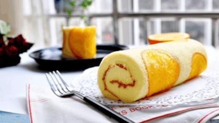 香橙蛋糕卷这样做出来真香, 手把手教你在家做零失败蛋糕卷, 看到你流口水