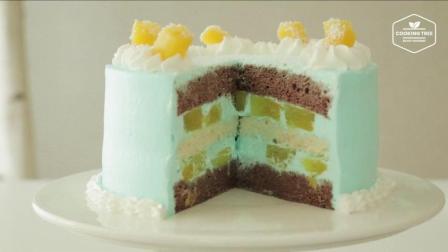 美食搬运: Cooking tree系列, 蓝色奶油蛋糕