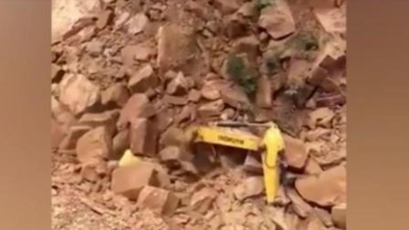 开挖掘机是辛苦活, 而且有一定的危险!
