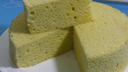 不用烤箱的玉米面戚风蛋糕, 教你在家轻松做出来, 好吃极了