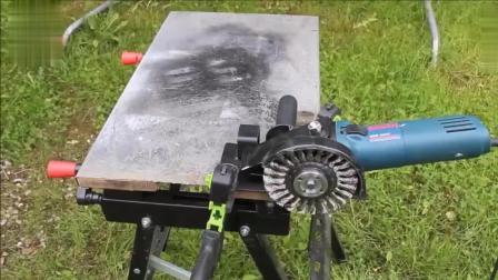角磨机这样改造一下, 可以代替切割机了